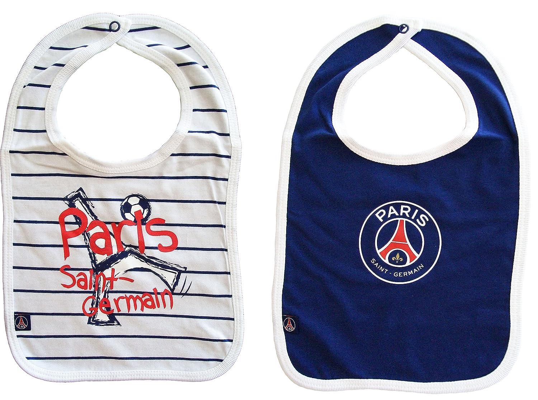 Lot de 2 bavoirs PSG bébé garçon - Collection officielle Paris Saint Germain  - Football  Amazon.fr  Sports et Loisirs 8ebf14d749b