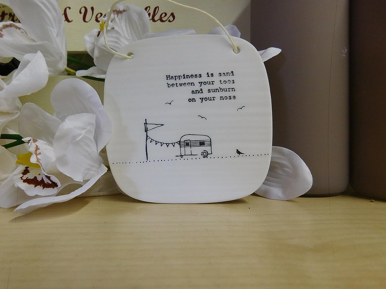 Sonnenspirale East of India Porzellan Clay Bild Square Plaque Geschenk Andenken einfach reinigen Design Friends Familie Gl/ück Escape 4267