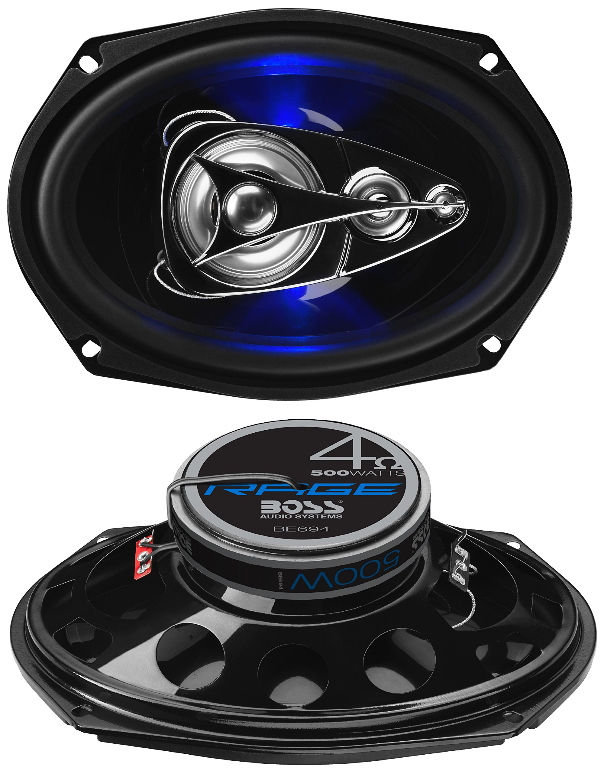 Boss Audio Systems BE694 500 Watt Per Pair, 6 x 9 Inch, Full Range, 4 Way Car Speakers Sold in Pairs