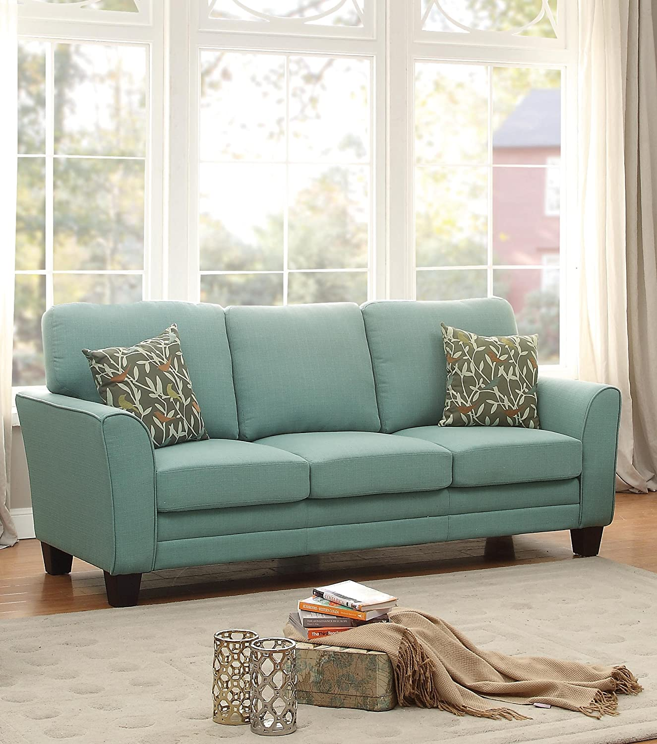 Amazon Homelegance 8413TL 3 Fully Upholstered with Piping