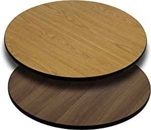 Flash Furniture 3 Pk. 30'' Round Table Top with Natural or Walnut Reversible Laminate Top