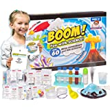 Kids Science Set - Over 60 Experiments Kit, How-to DVD and Instruction Manual. 55 Pieces, Year-Round Fun Educational Science Activities