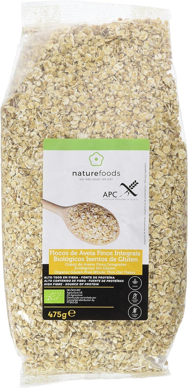 Naturefoods Copos de Avena Finos Integrales Ecológicos Sin Gluten - 475 gr