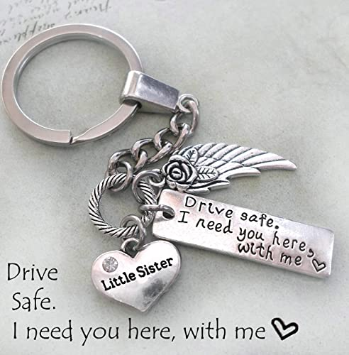 Amazon com: Little Sister, Drive Safe Keychain or Purse Clip