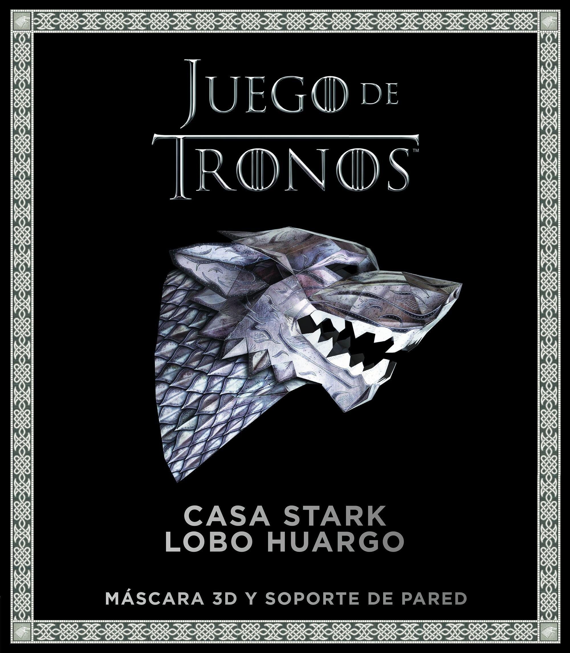 Juego de Tronos. Casa Stark: lobo huargo: Máscara 3D y soporte de ...