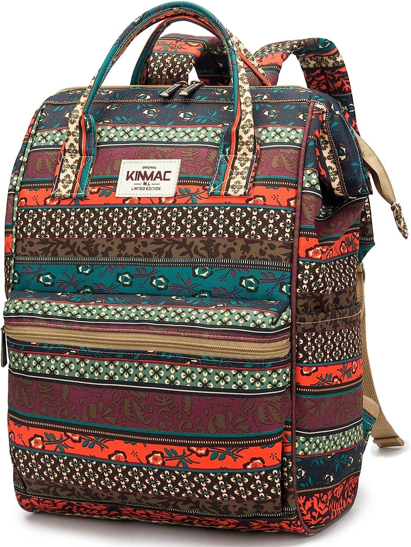 Kinmac Waterproof Laptop Backpack For Laptop Up to 15.6 Inch Men Women Student Travel Outdoor Backpack (Bohemian)
