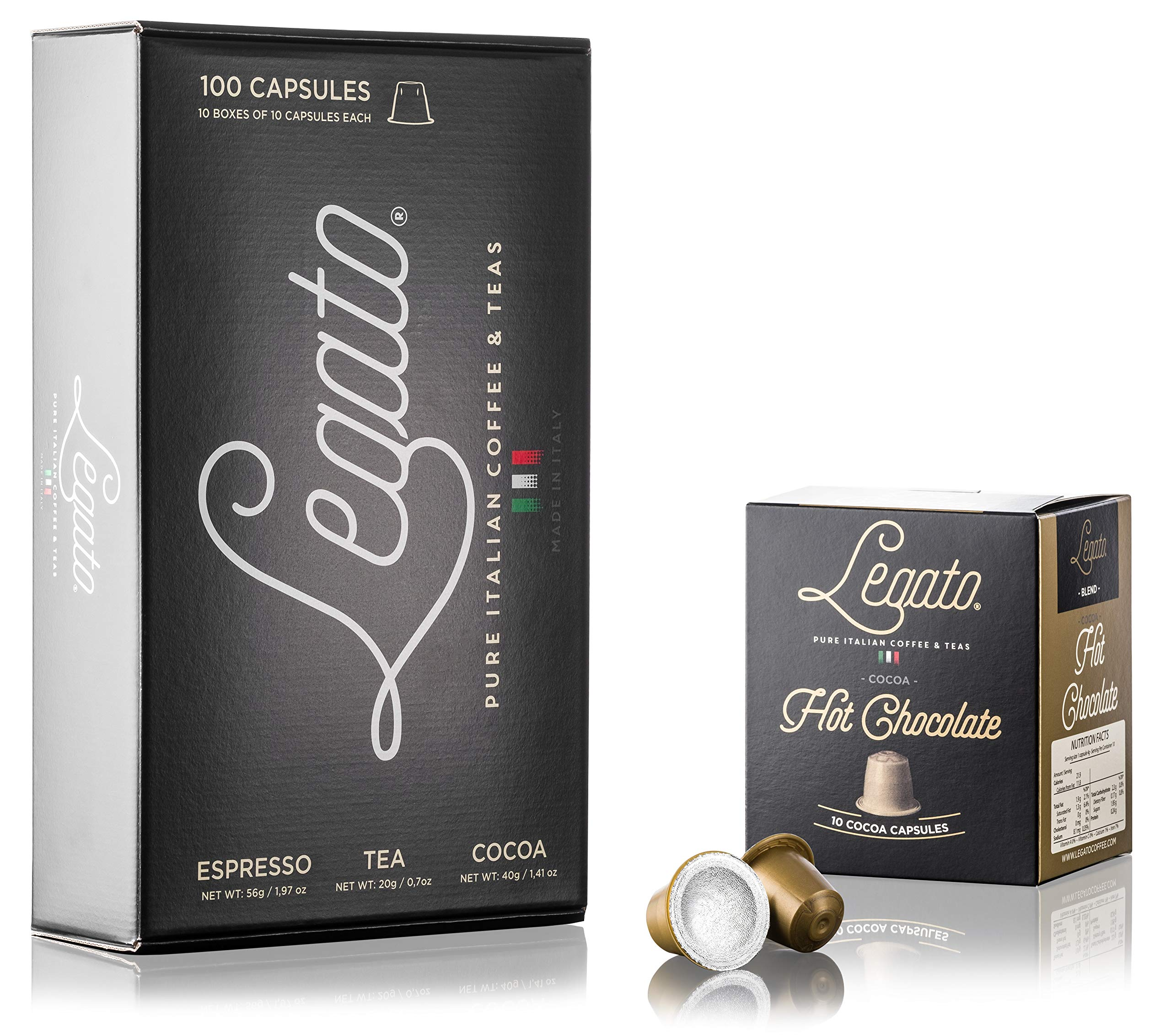 CDM product Legato Hot Chocolate Capsules - (Milk Chocolate, 100) small thumbnail image
