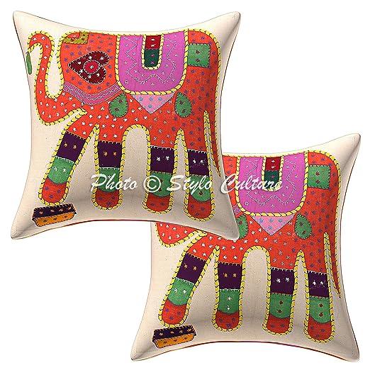 Stylo Culture Cojines Decorativos Indios Cubren Apliques ...