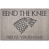 """Game of Thrones Door Mat Rug Customizable Personalized 36""""x18"""" Bend The Knee Doormat Game of Thrones"""