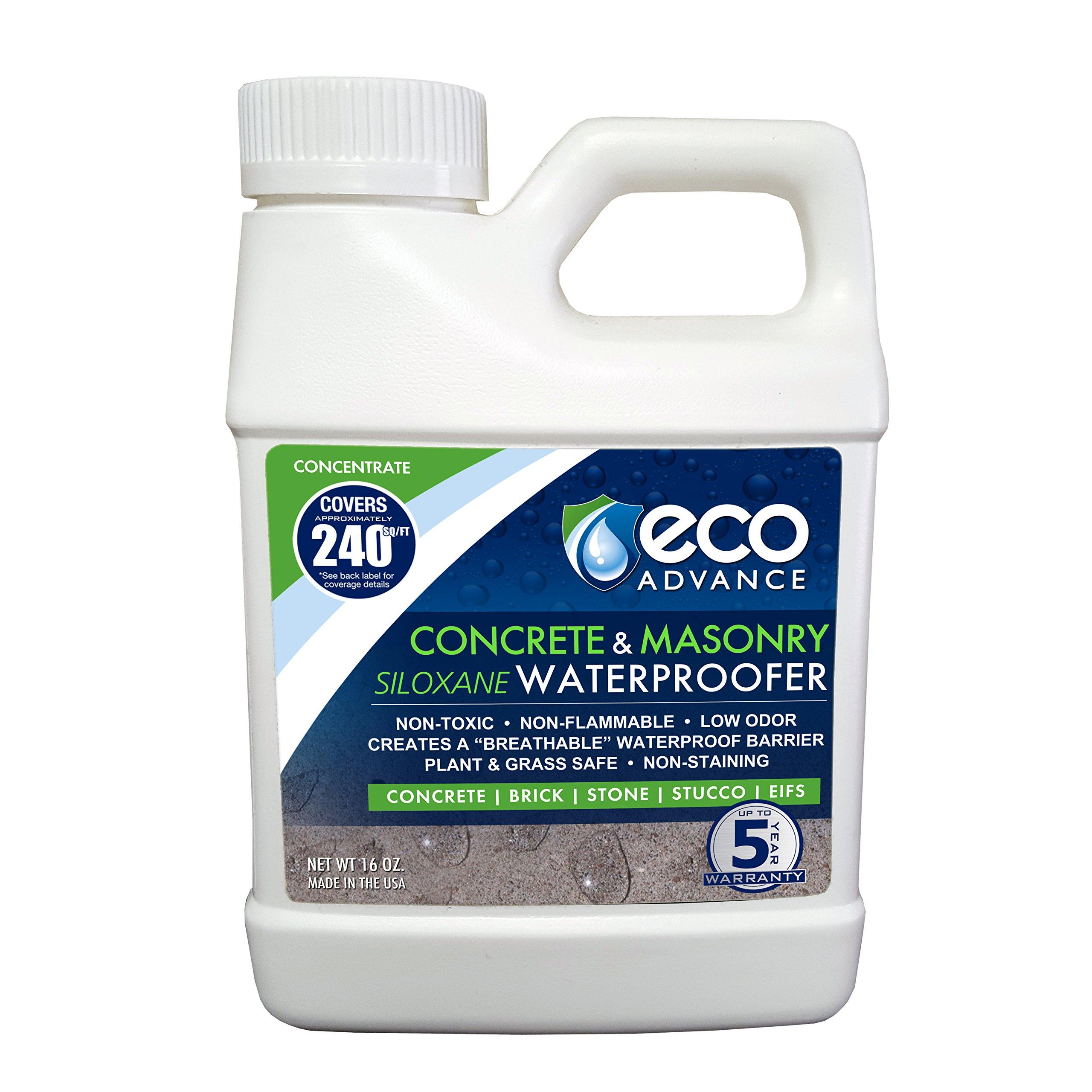 Eco Advance EACON16CON Concrete/Masonry Siloxane Waterproofer Liquid Concentrate 16-Oz Water Proofer