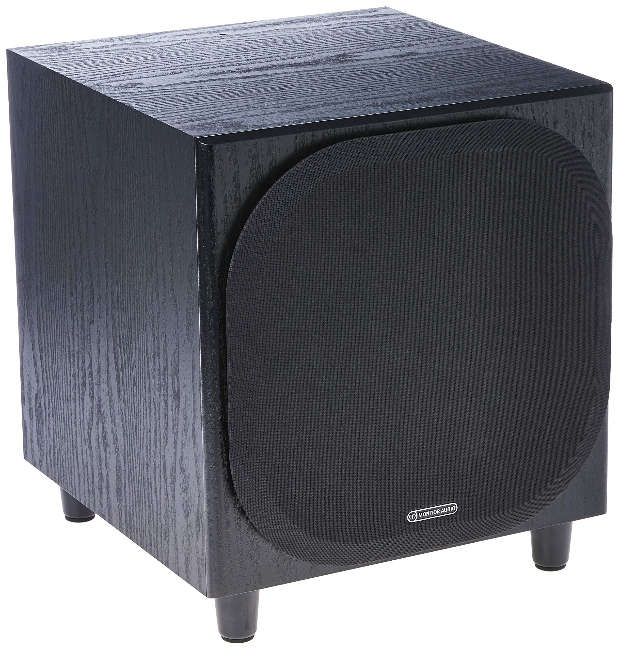 Monitor Audio - Bronze W10 Subwoofer - Black Oak Veneer