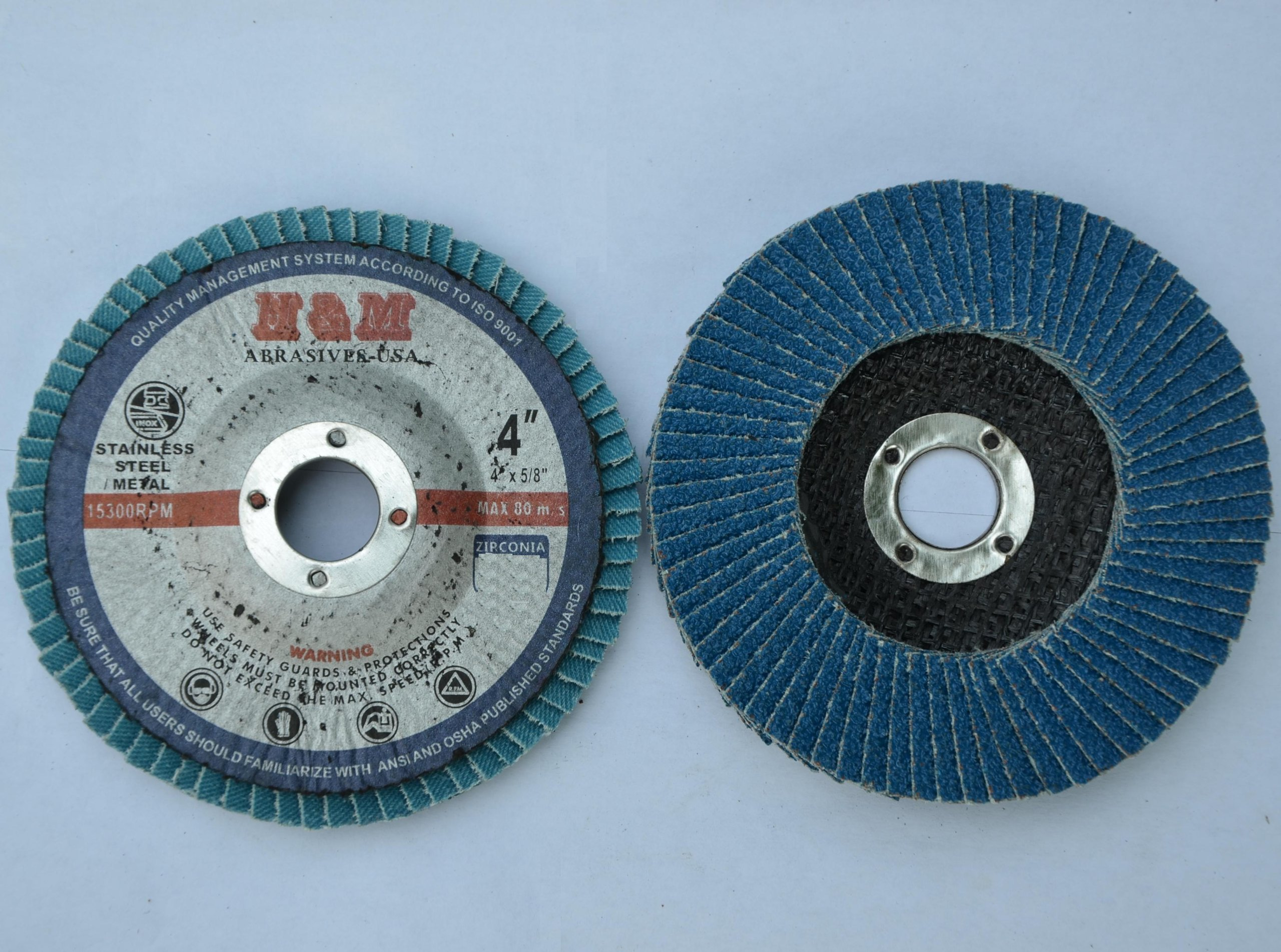 "10pcs Premium FLAP DISCS 4"" x 5/8"" Zirconia 80 grit"