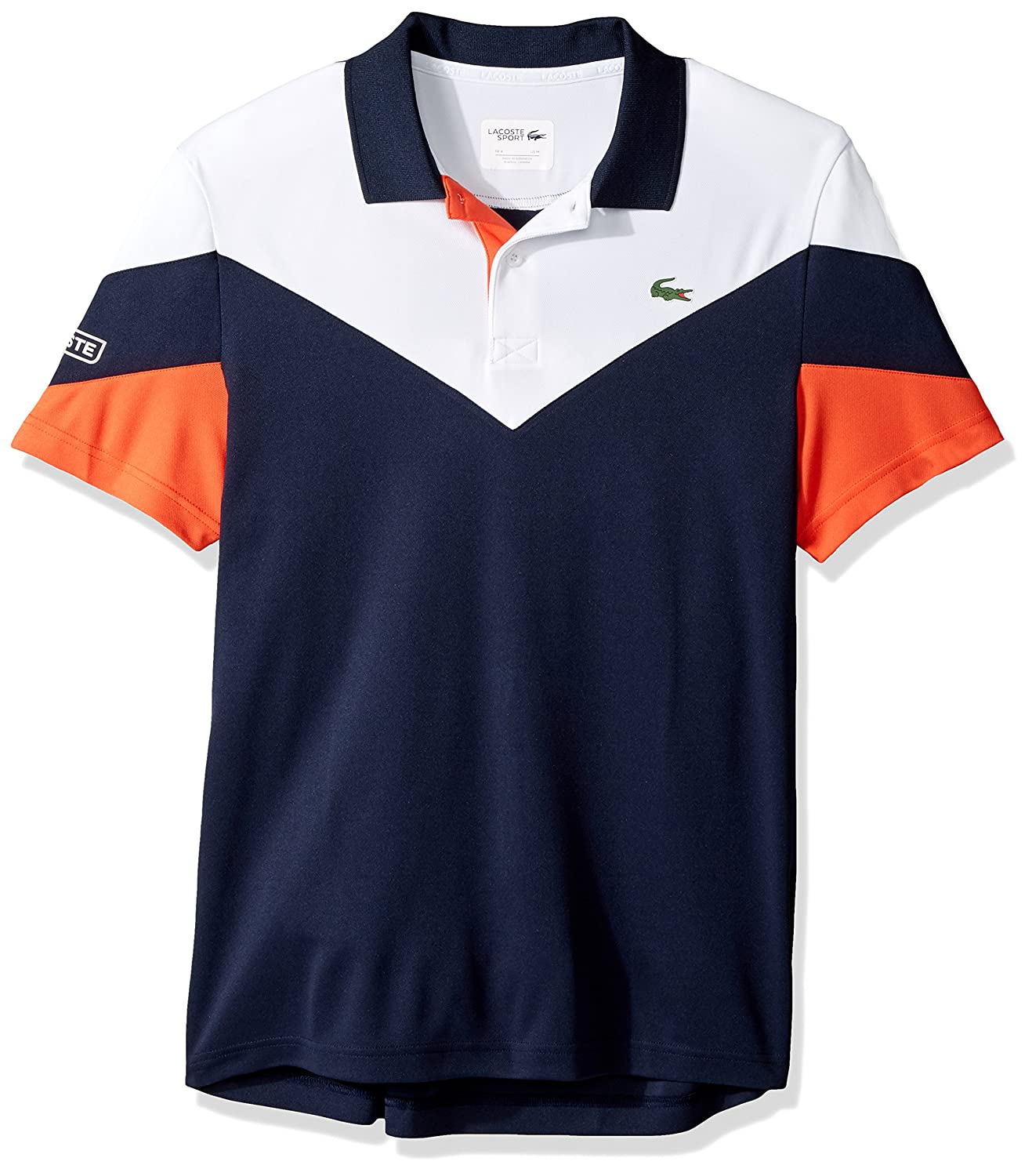 56923b01 LACOSTE Men's Tennis Short Sleeve Ultra Dry Polo, size 2-9 (XS-4XL), 5  color options