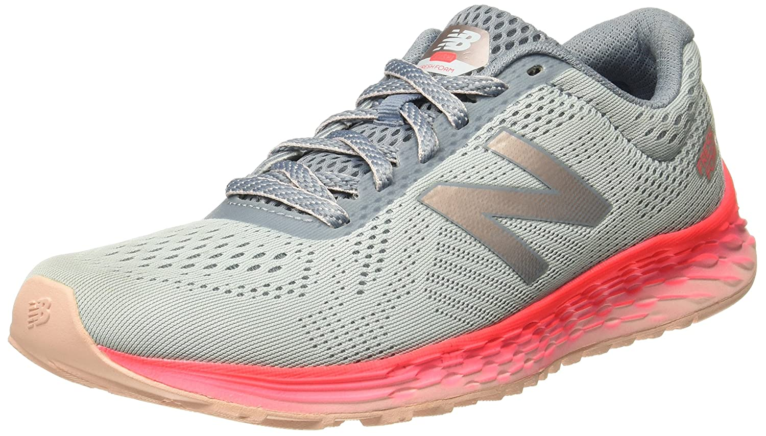 New Balance Women's Fresh Foam Arishi V1 Running Shoe B06XSBT5B8 10 D US|Light Porcelain Blue/Vivid Coral