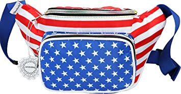 Patriotic belt bag American flag waist fanny pack Men woman belt bag Accessory Independence Day July 4th bum bag for cell phone passports