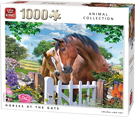 King Animal Collection Horses at Gate 1000 pcs Puzzle ...