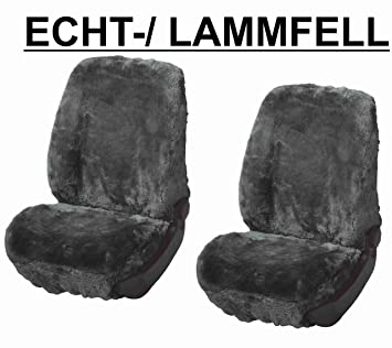 Autositz Vollbezug Lammfell Anthrazit
