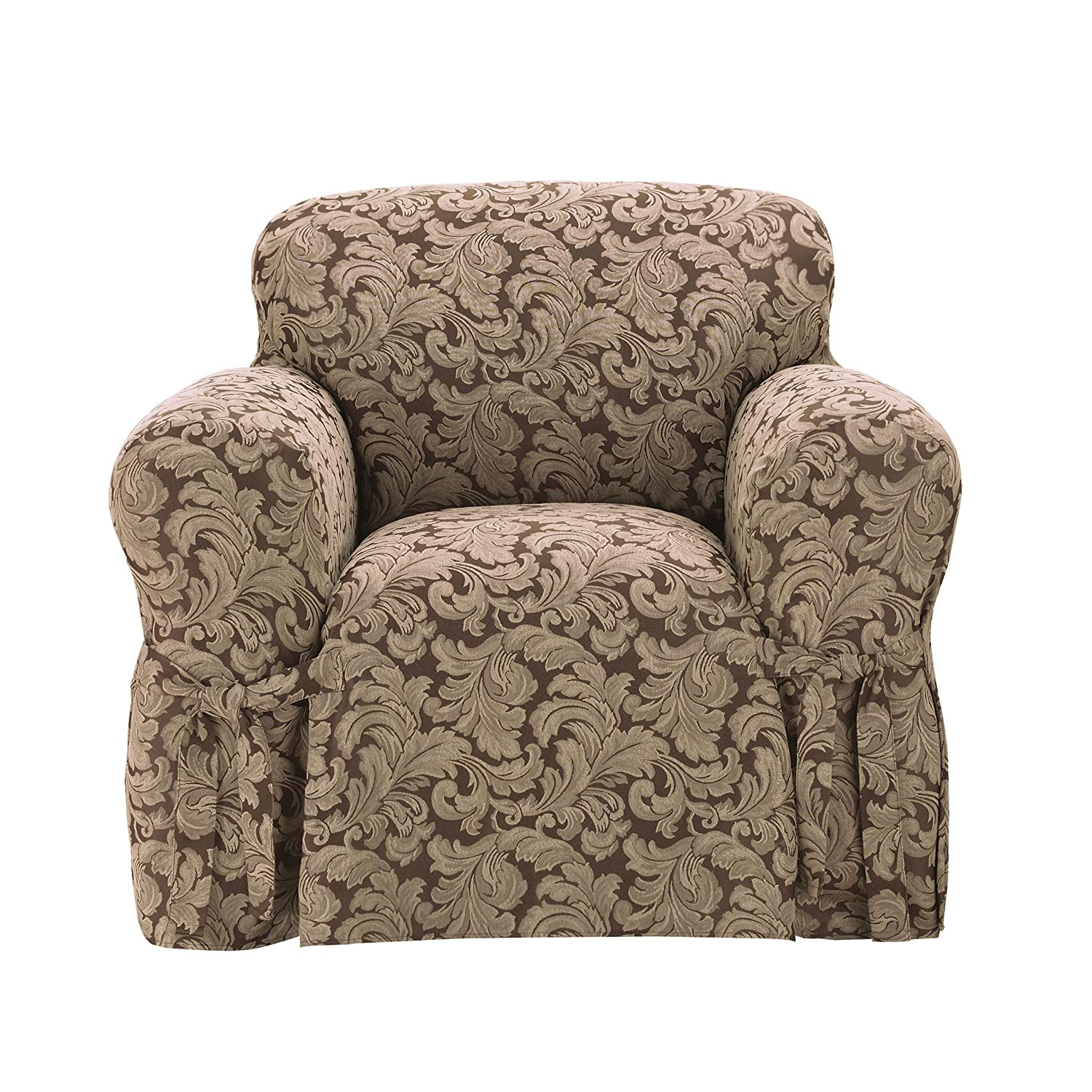 Amazon Sure Fit Scroll 1 Piece Sofa Slipcover Champagne
