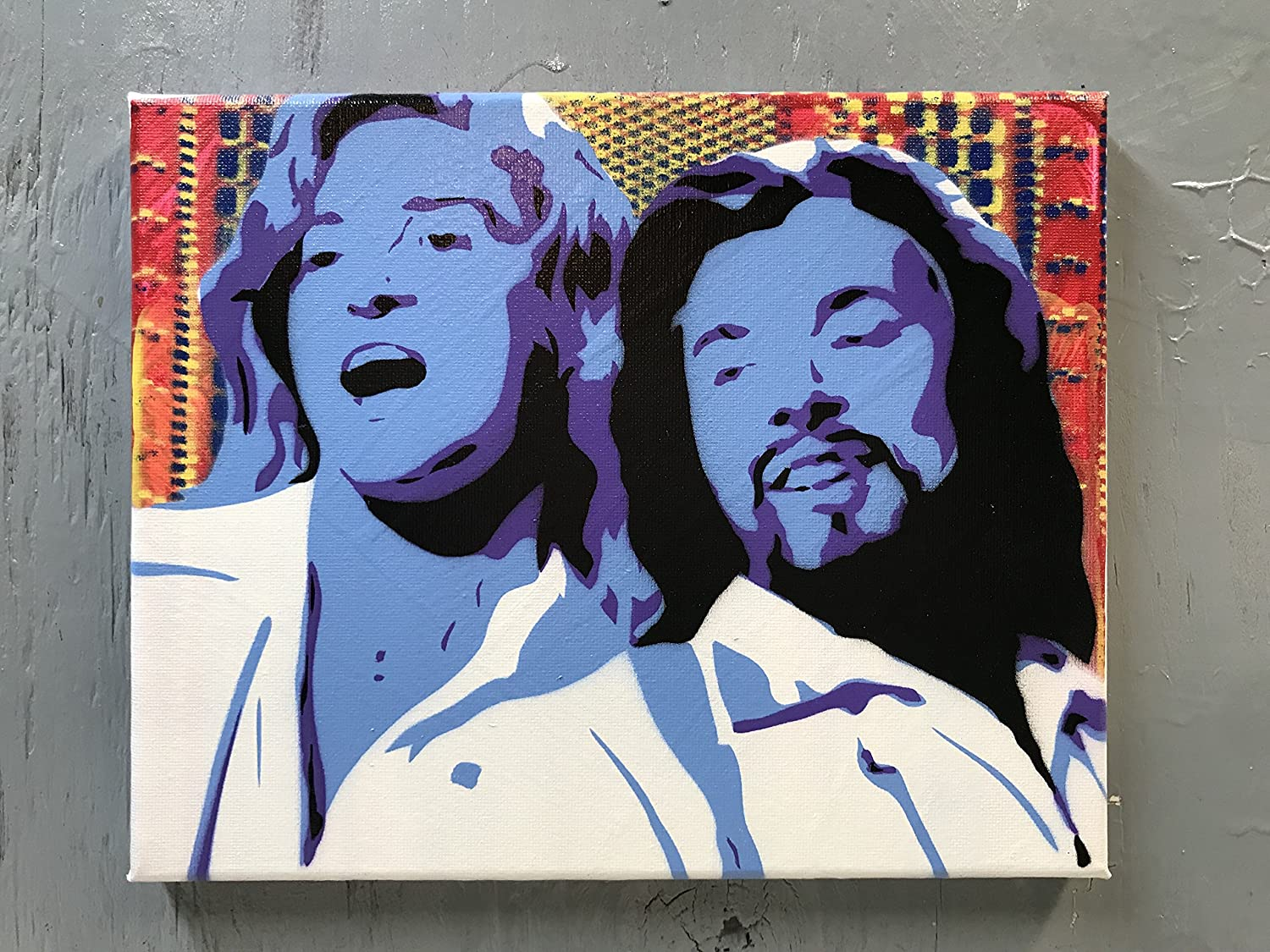 Jimmy Fallon and Justin Timberlake Painting - 8x10x1 Paint on Gallery Canvas - Ready to Hang
