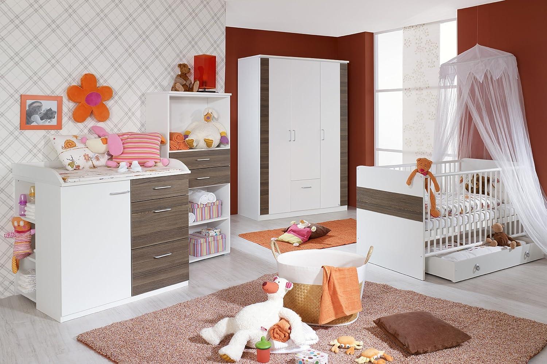 rauch PACK'S Babyzimmer Tiana 4-teilig alpinweiß/eschefarben (Ausführung: ohne Bettseiten)