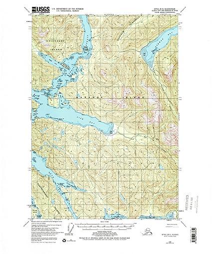 Amazon.com: Alaska Maps | 1948 Sitka, AK USGS Historical Topographic ...