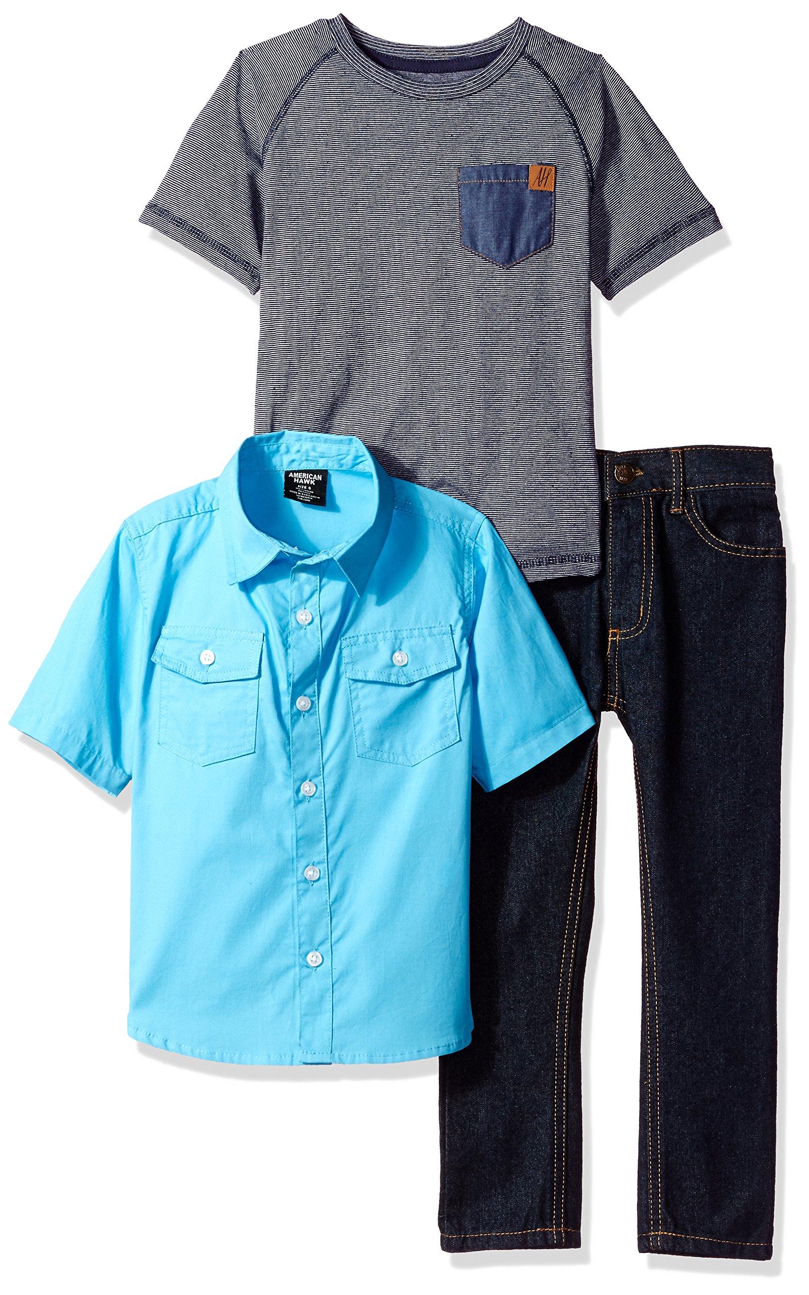 American Hawk Toddler Boys' Short Sleeve