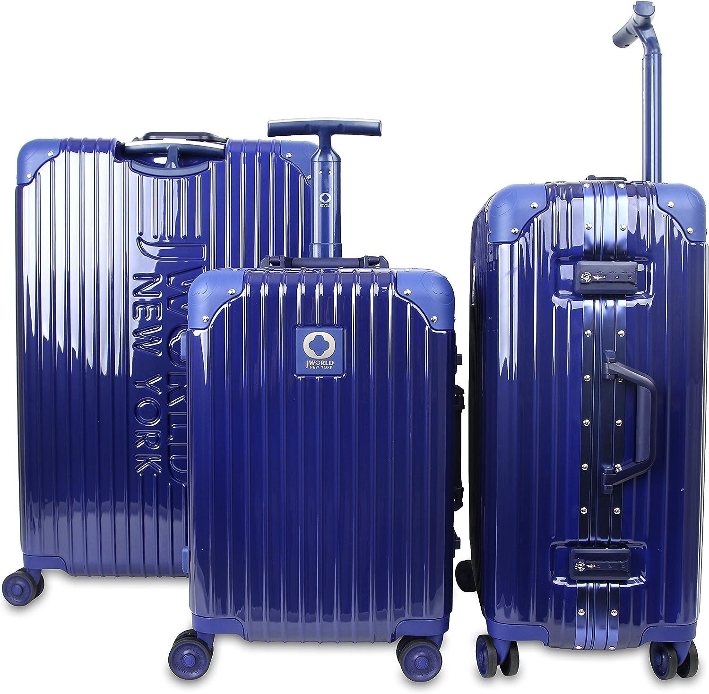 J World New York Slite Hardside 3 Piece Spinner Luggage Set