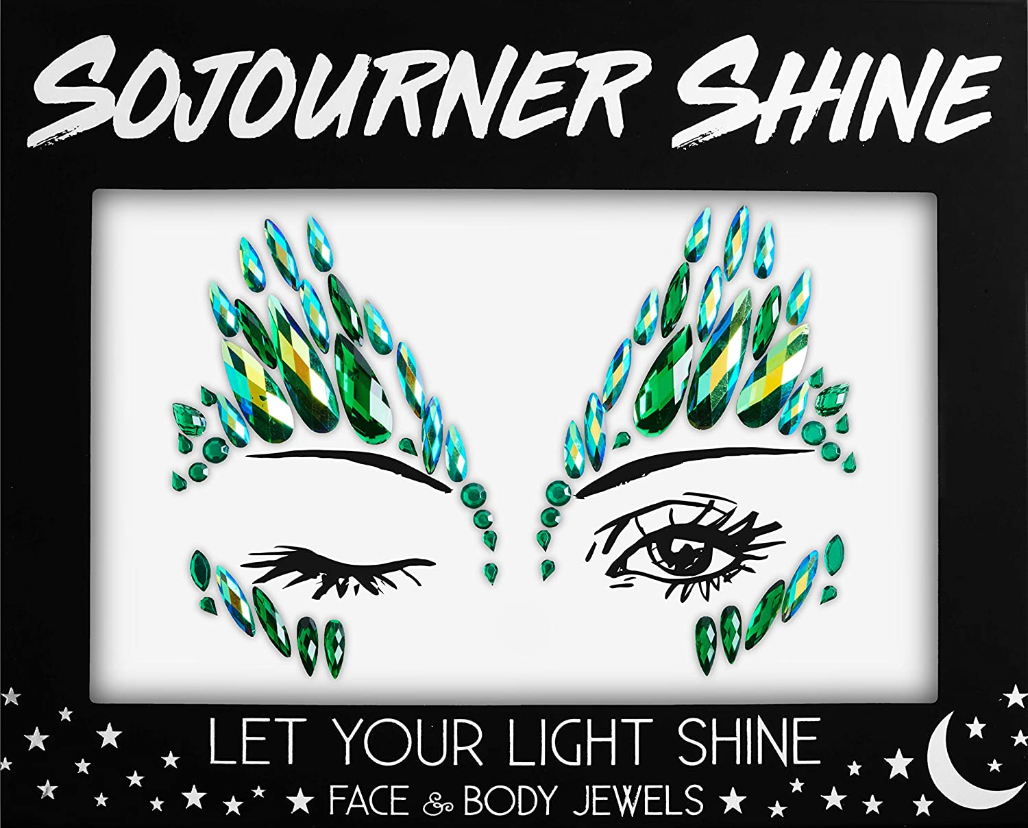 Face Jewels Glitter Gems Rhinestones – Eye Body Jewels Gems | Rhinestone Stickers | Body Glitter Festival Rave & Party Accessories by SoJourner (Forest Fairy) SoJourner Bags