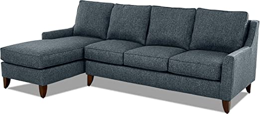 Amazon.com: Casual Style Sectional Sofa - Fabric Upholstery ...