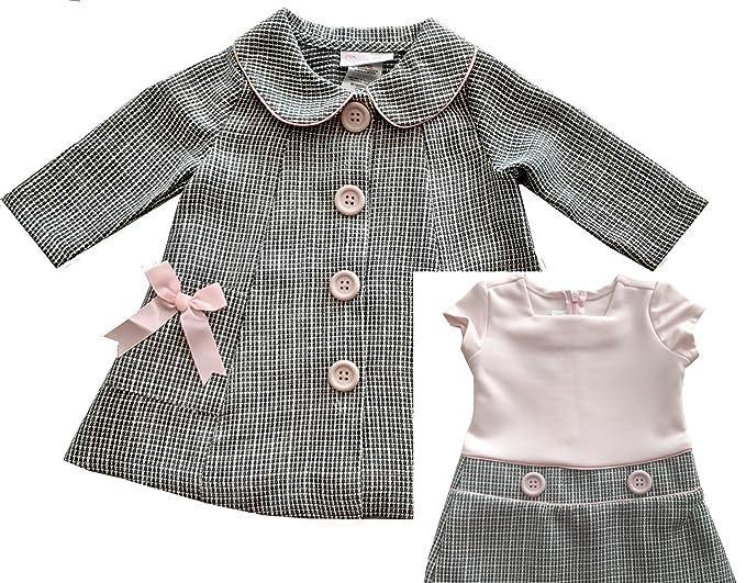 Amazon.com: Bonnie bebé niñas vestido y chamarra de dos ...