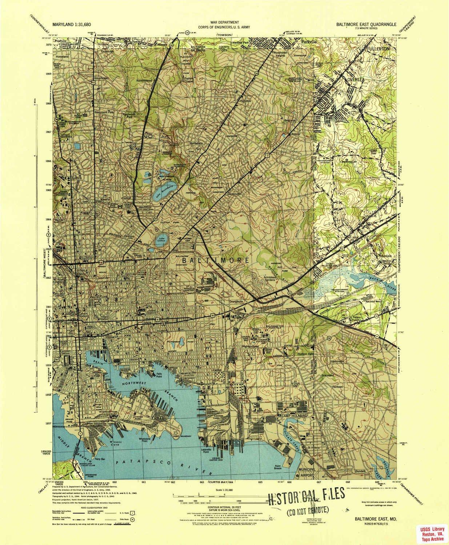 Amazon Com Yellowmaps Baltimore East Md Topo Map 1 31680 Scale
