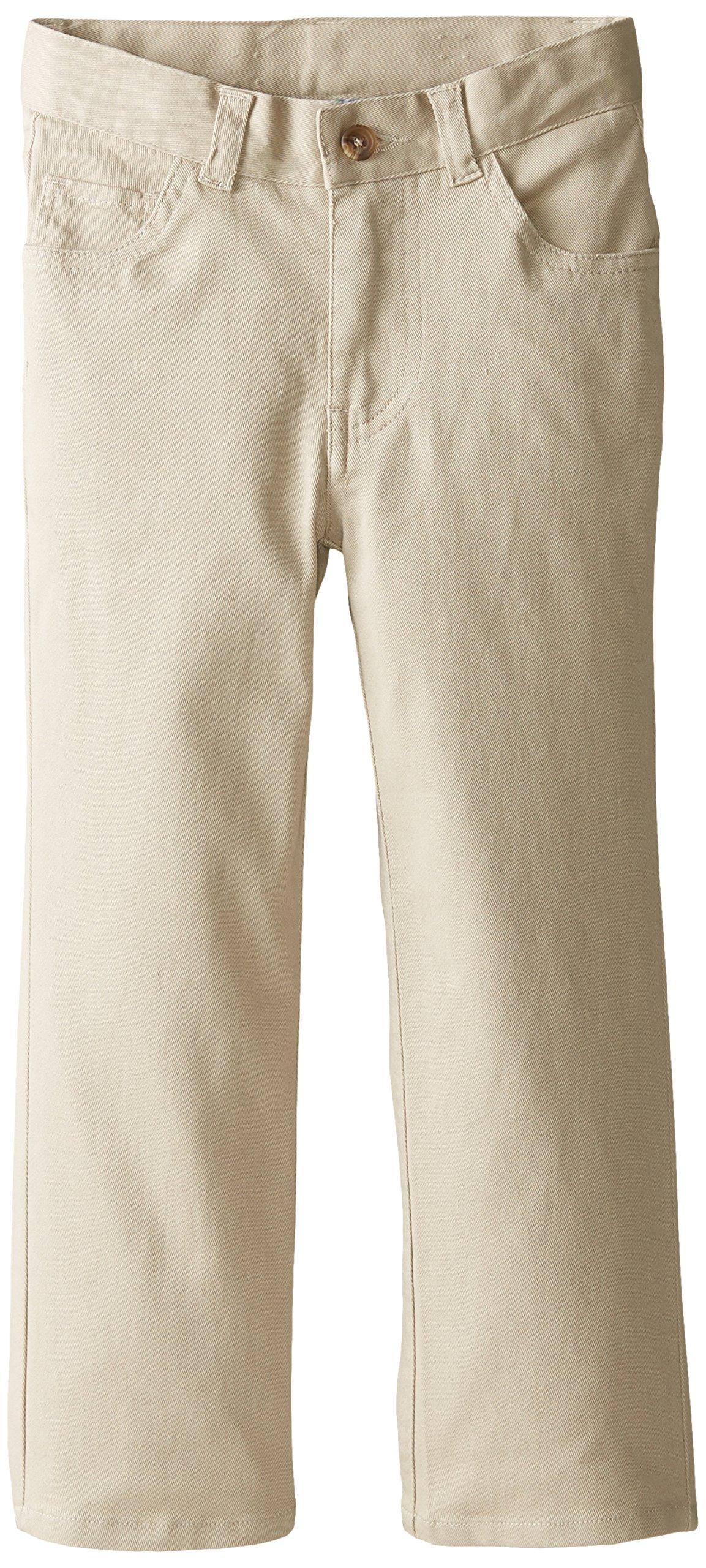 IZOD Little Boys' 5 Pocket Pant, Khaki, 05/Regular