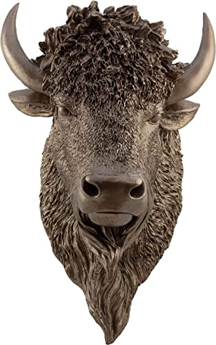 Faux Taxidermy Studio Fake Bronze Bison Head Faux Taxidermy Fake Resin Bronze Bison Head Mount Bronze