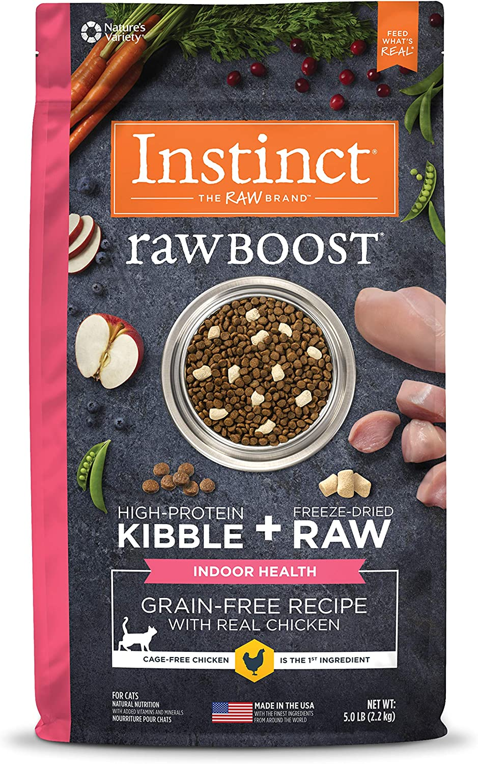Instinct Raw Boost Indoor Health Grain Free Recipe Natural Dry Cat Food