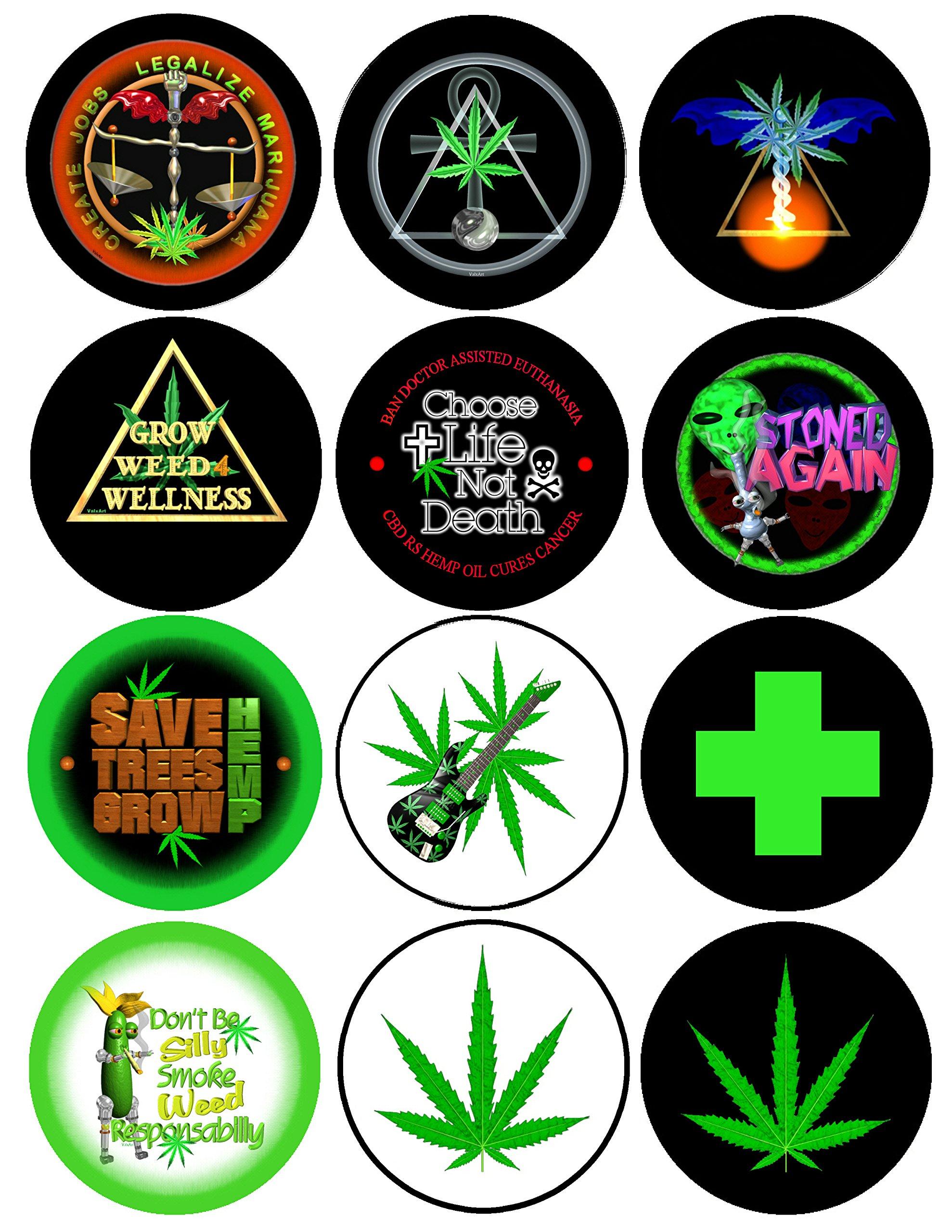Valxart Medical Cannabis Classic #2 2.25″ Pins Pack-12 (1)