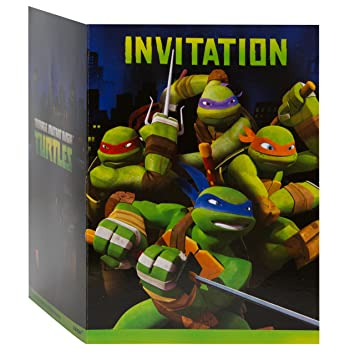 Amazoncom Teenage Mutant Ninja Turtles Party Invitations 8ct