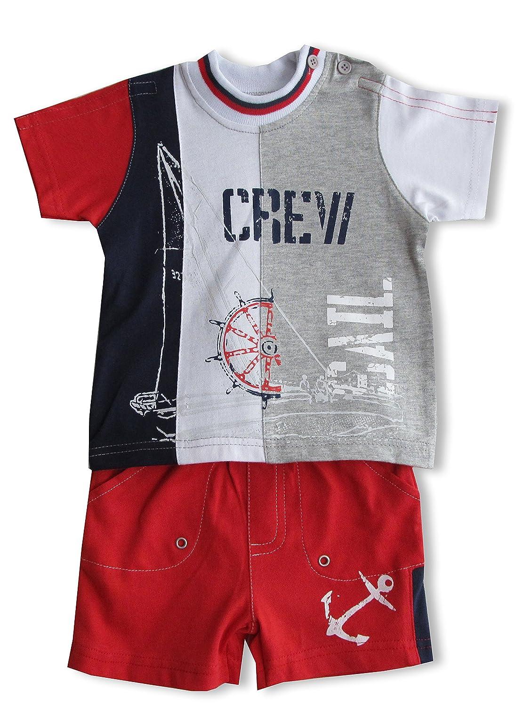 Schnizler Jungen Bekleidungsset Sail Crew mit T-Shirt und Shorts Gr. 62 Mehrfarbig (original 900) Playshoes GmbH 17435068