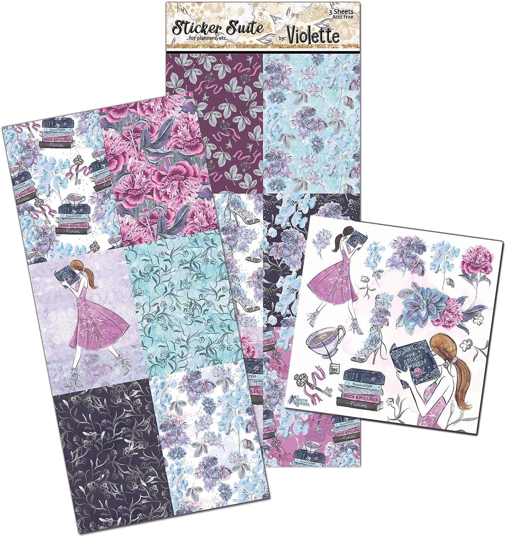 Violette Stickers Secret Garden Planner Suite - 3 sheets
