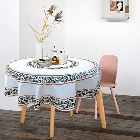 b8654fdd6 Buy RHF 100% Cotton Round Tablecloth for 4-6 Seater Dining Table Online at  Low Prices in India - Amazon.in