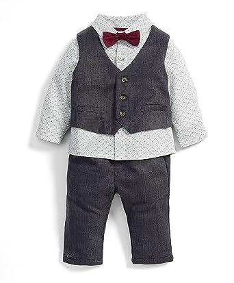 9a6ba89dfecf Mamas and Papas Baby Boys  4 Piece Waistcoat Suit Set Clothing