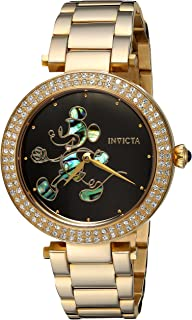 Invicta Womens Disney Limited Edition Quartz and Stainless Steel Casual Watch, Color: