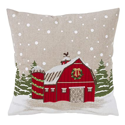 Amazon.com: SARO LIFESTYLE Home Collection Holiday Barn ...
