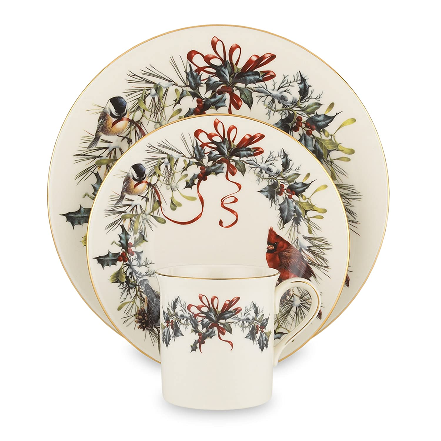 Amazon.com | Lenox Winter Greetings 12 Piece Set Christmas Dishes Accent Plates  sc 1 st  Amazon.com & Amazon.com | Lenox Winter Greetings 12 Piece Set: Christmas Dishes ...