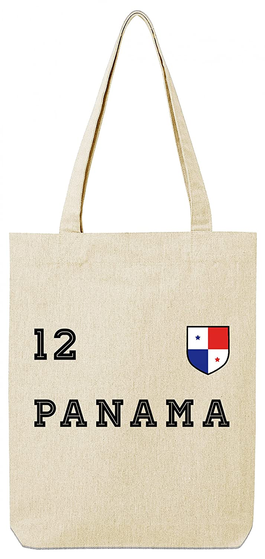 ShirtStreet Wappen Fußball WM Fanfest Gruppen Premium Bio Baumwoll Tote Bag Jutebeutel Stanley Stella Trikot Panama, Größe: onesize,Natural