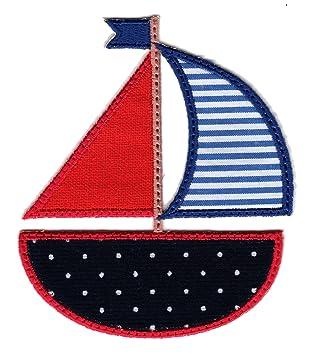 Segelboot applikation  PatchMommy Patch Aufnaeher Applikation Aufbuegler, Segelboot ...