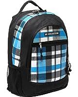 18 Inch Blue Plaid Children Book Bag Backpack Kids School Shoulder Bag