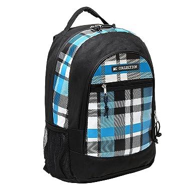 18 Inch Blue Plaid Children Book Bag Backpack Kids School Shoulder
