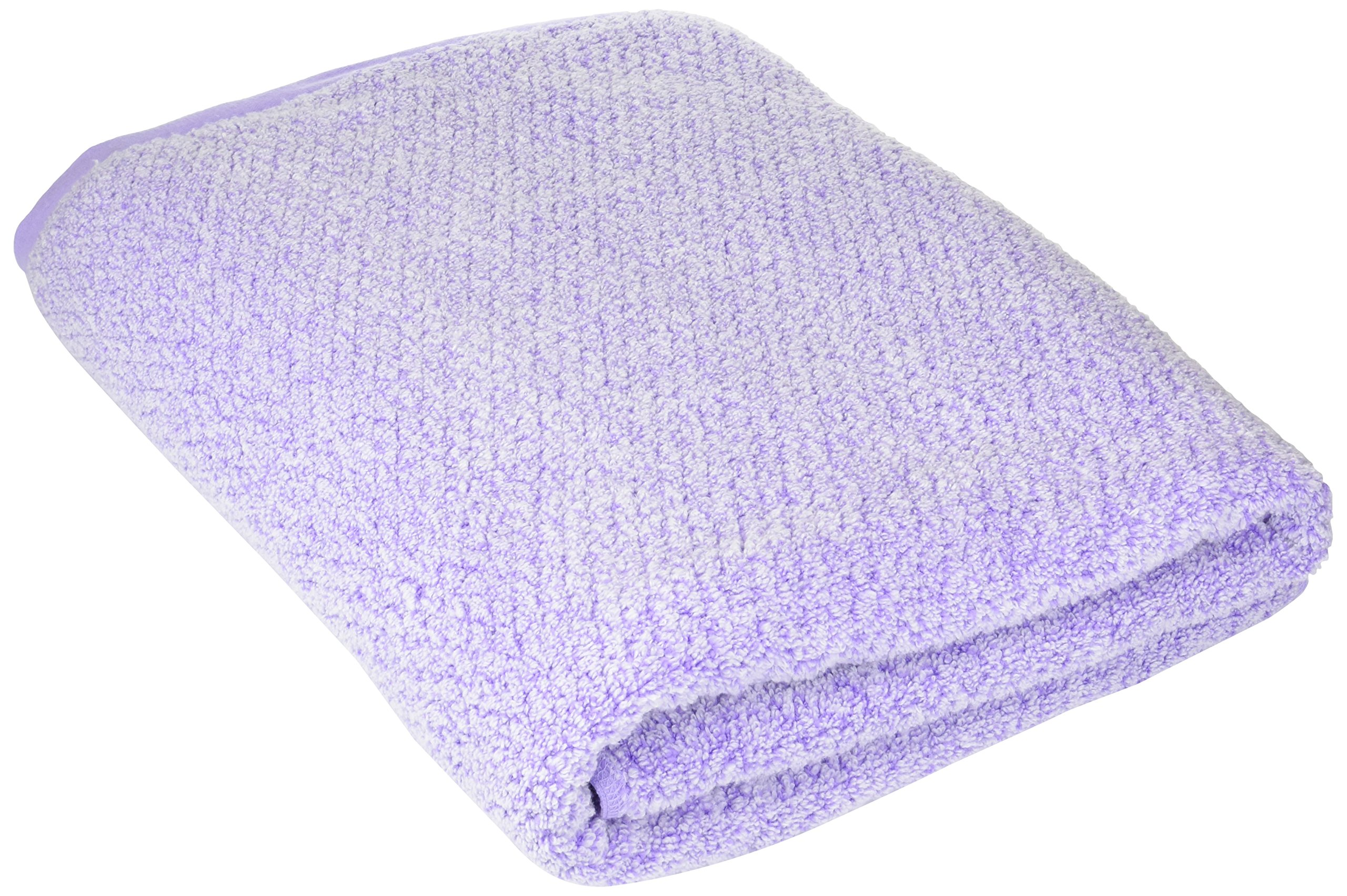 Everplush Diamond Jacquard Bath Sheet in Lavender
