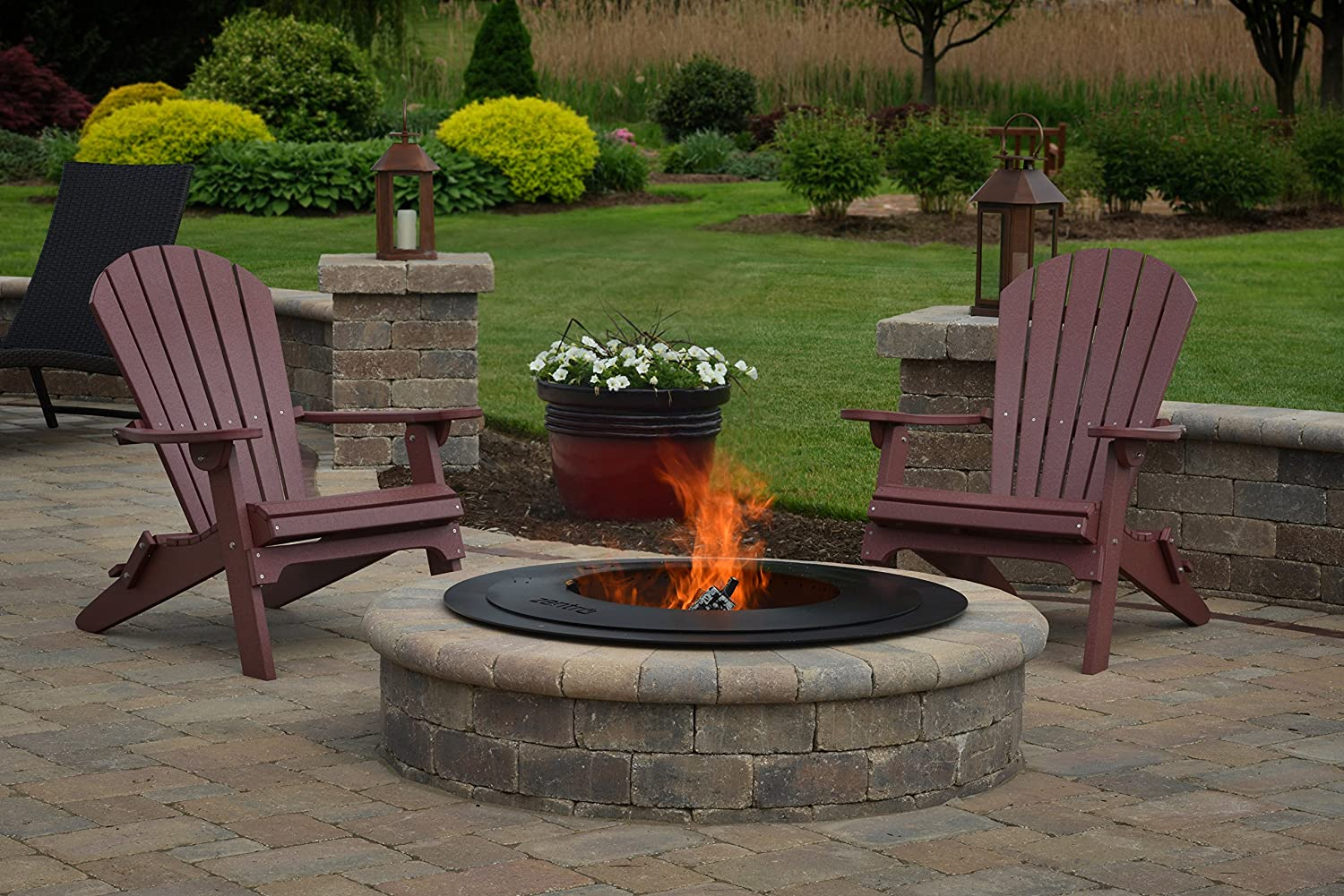 Amazon.com : Zentro Fire Pit Insert | Smoke-Reducing, Heavy Duty, and  American Made. 24