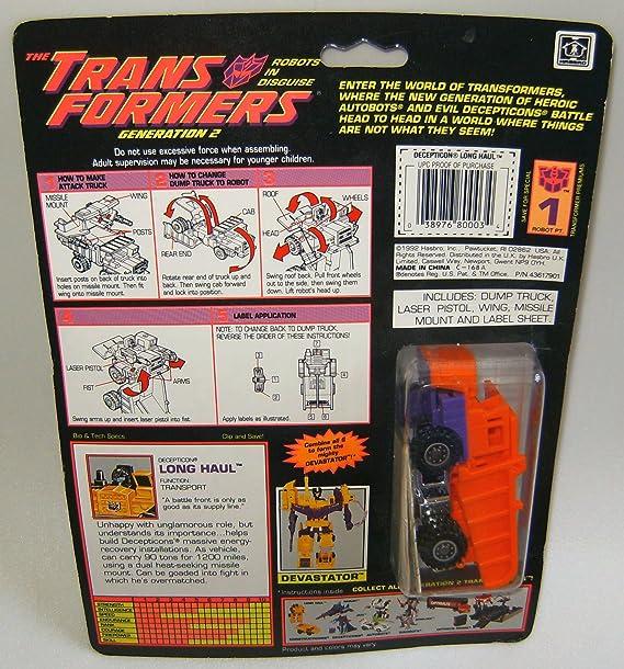 Amazon.com: Transformers Generation 2 Long Haul #5 Orange ...